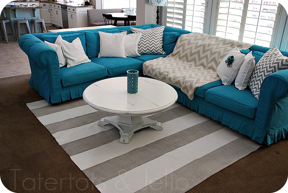 My Slipcovered Sectional and a Giveaway Tatertots and Jello