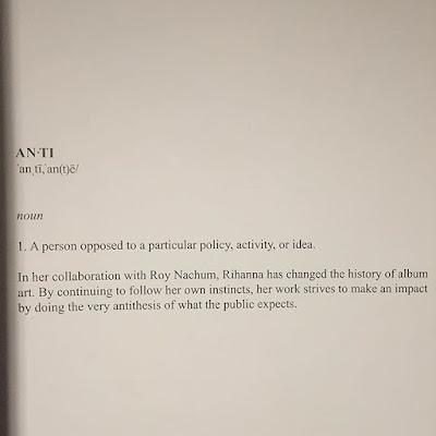 Rihanna reveals art for her 8th studio album ANTI. 4