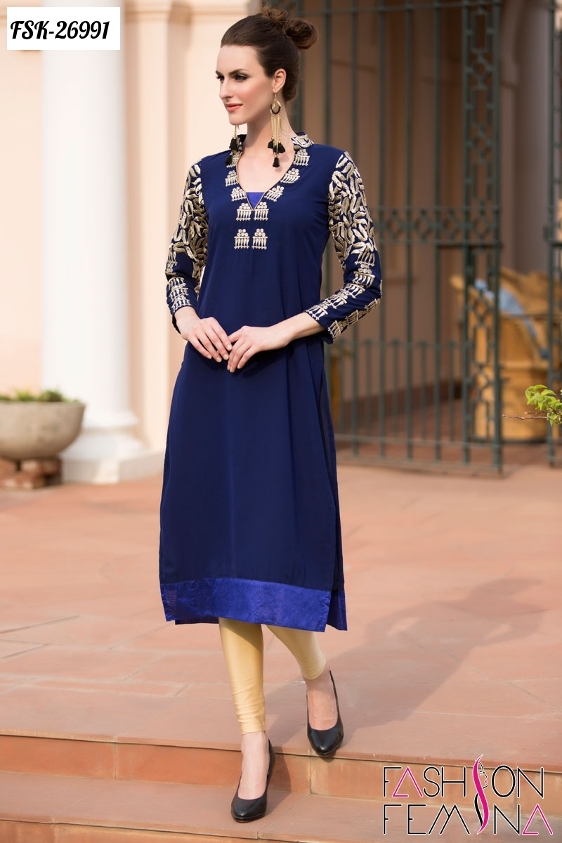Fashion femina exclusive indo western long kurti online for Custom design online