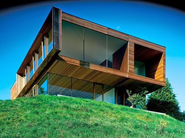 Casa moderna de madera en alemania modern woodhouse in for Casas de madera modernas