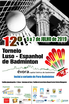 Cartaz da 12º Edição do Torneio Luso-Espanhol de Badminton
