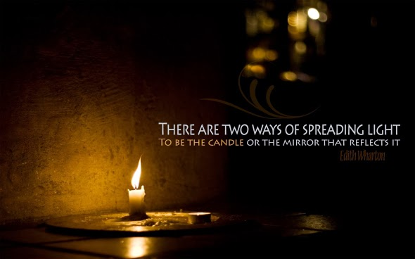 there are two ways of spreading light one is candle and mirror reflects it