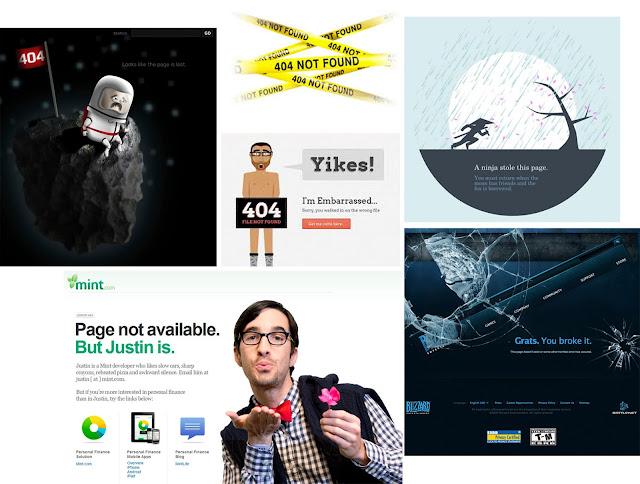 Casos curiosos y divertidos de avisos de error de página no encontrada 404