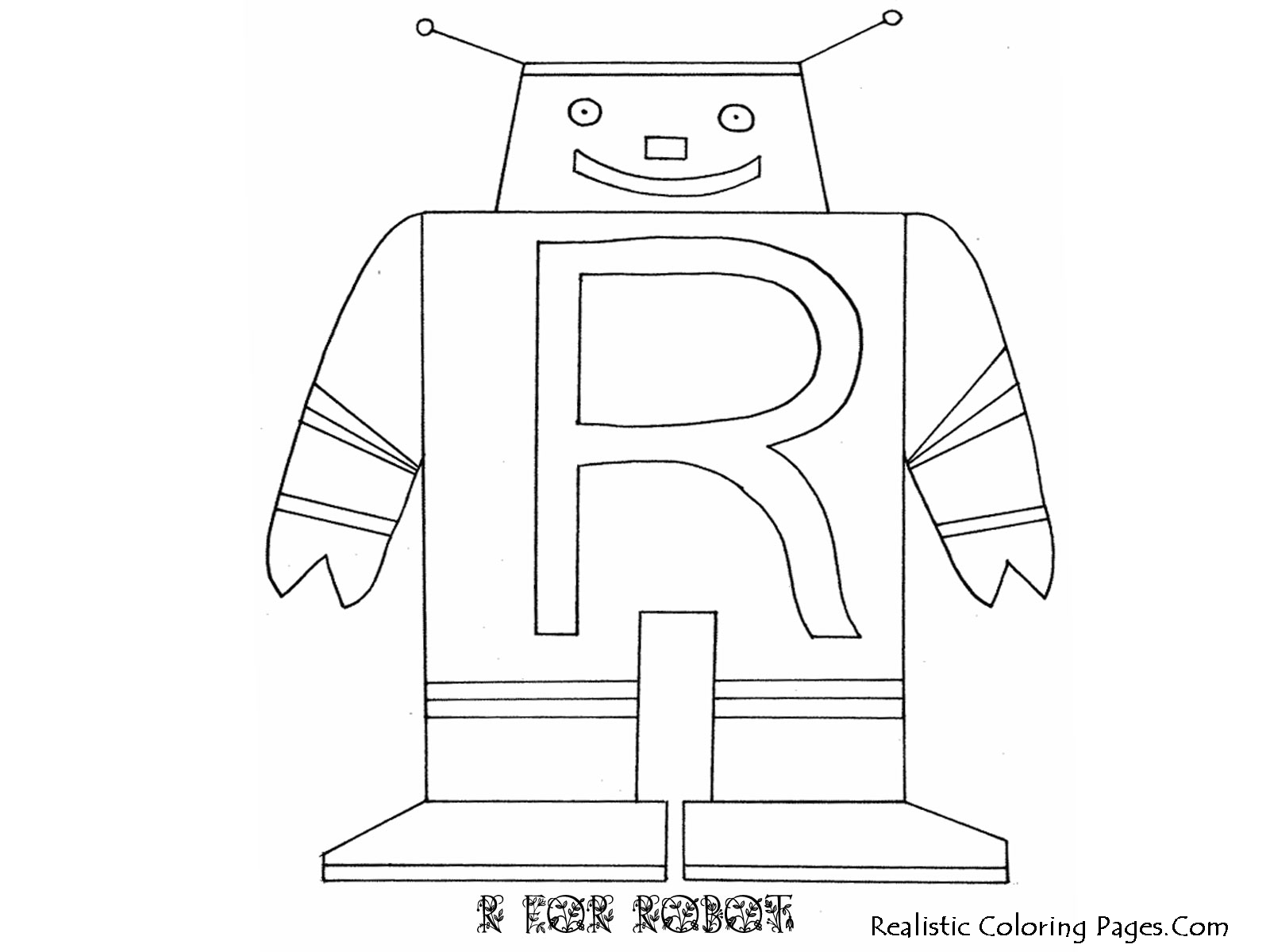 Printable R Letters Alphabet Coloring