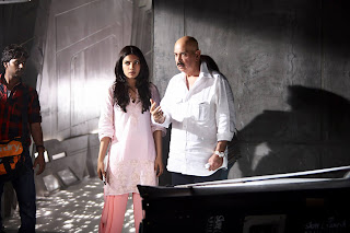 Priyanka Chopra with Rakesh Roshan on Krrish 3 Shooting Location