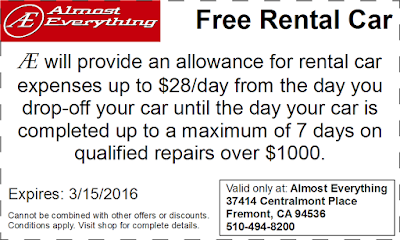 Coupon Free Rental Car February 2016