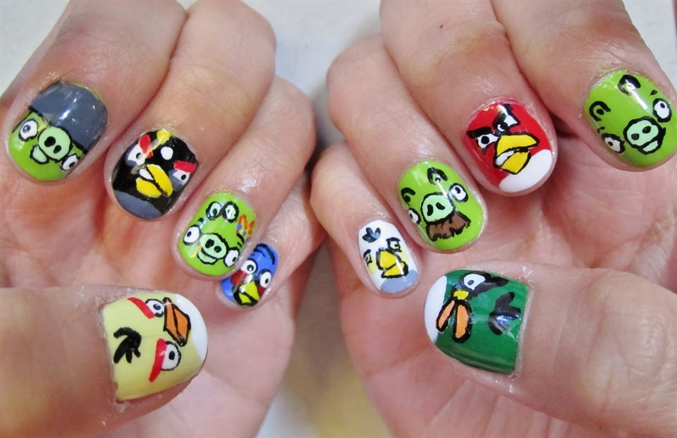 Images Of Angry Bird Nail Art: One hundred styles angry bird nail ...