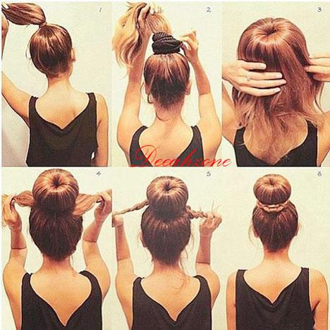 6 Step Membuat Rambut Cepol Praktis