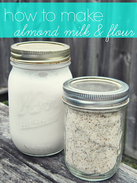 How to Make Almond Milk & Flour via @labride