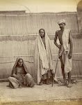 Two-women-and-a-Man-of-the-Sansi-Tribe---Delhi-District-1863
