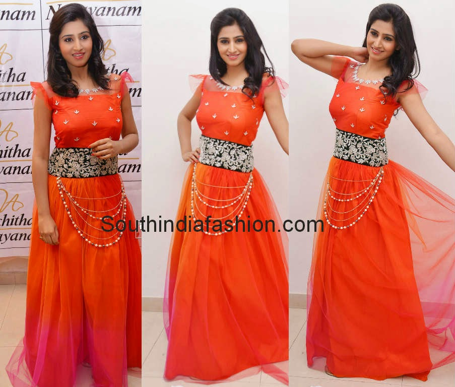 shamili in long gown
