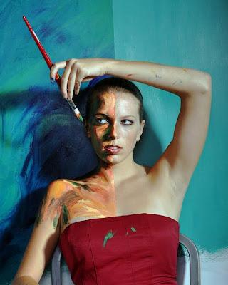 Arte de Alexa Meade donde el lienzo es el cuerpo humano
