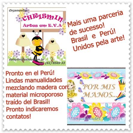 Manualidades artesanatos Brasil e Peru !!!