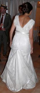 robe de mariage derriere