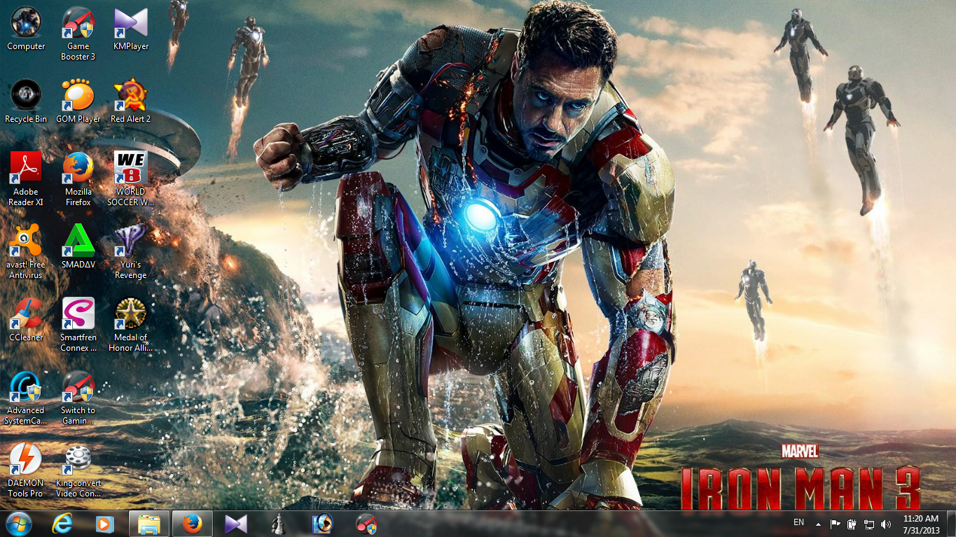 Download Theme Iron Man 3 Untuk Windows 7 & 8