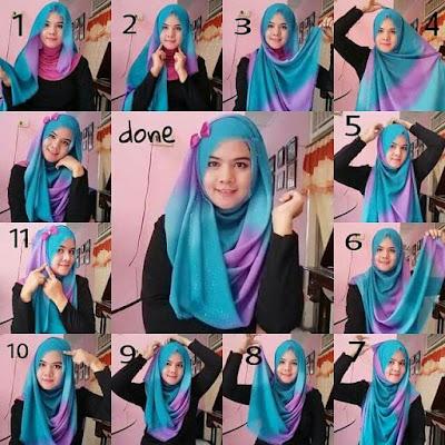 Cara Memakai Hijab Sehari hari Yang Trendi