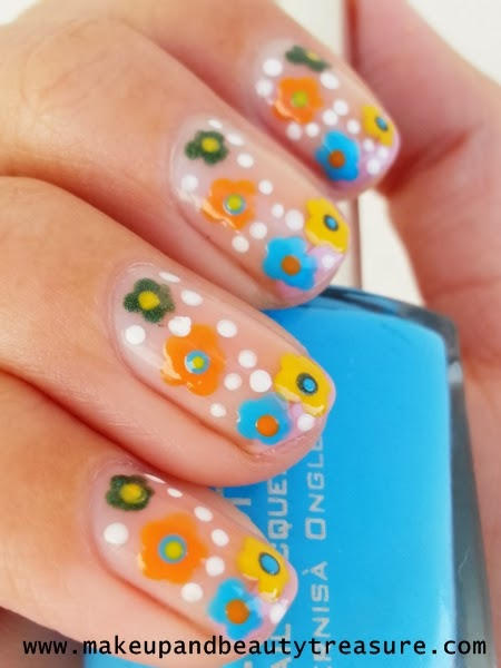 Colorful Floral Nails