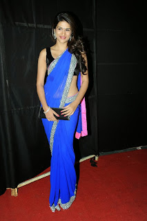 Actress Shraddha Das  Pictures in Saree at Rey A to Z Look Launch 0055.jpg