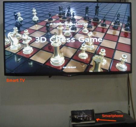 Main catur di Smart TV dari smartphone Asus Zenfone 5