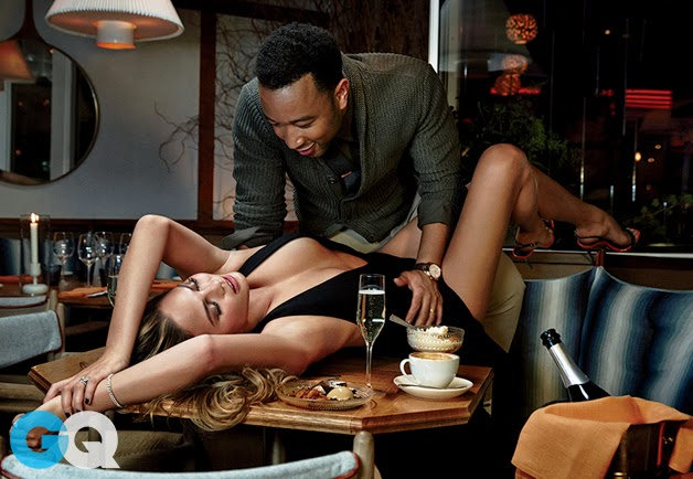 john legend and chrissy teigen for gq (february 2015)