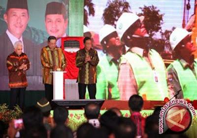 Presiden Resmikan Proyek di Kotabaru Rp 6,4 Triliun