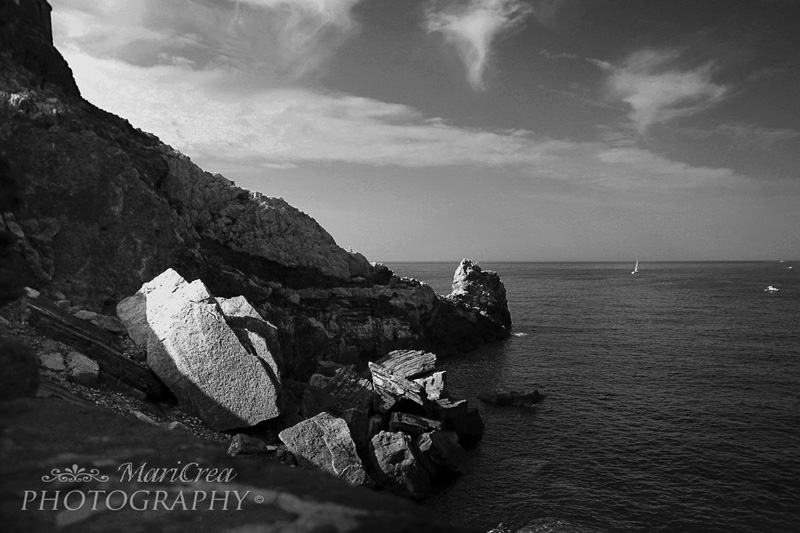 Portovenere black and white