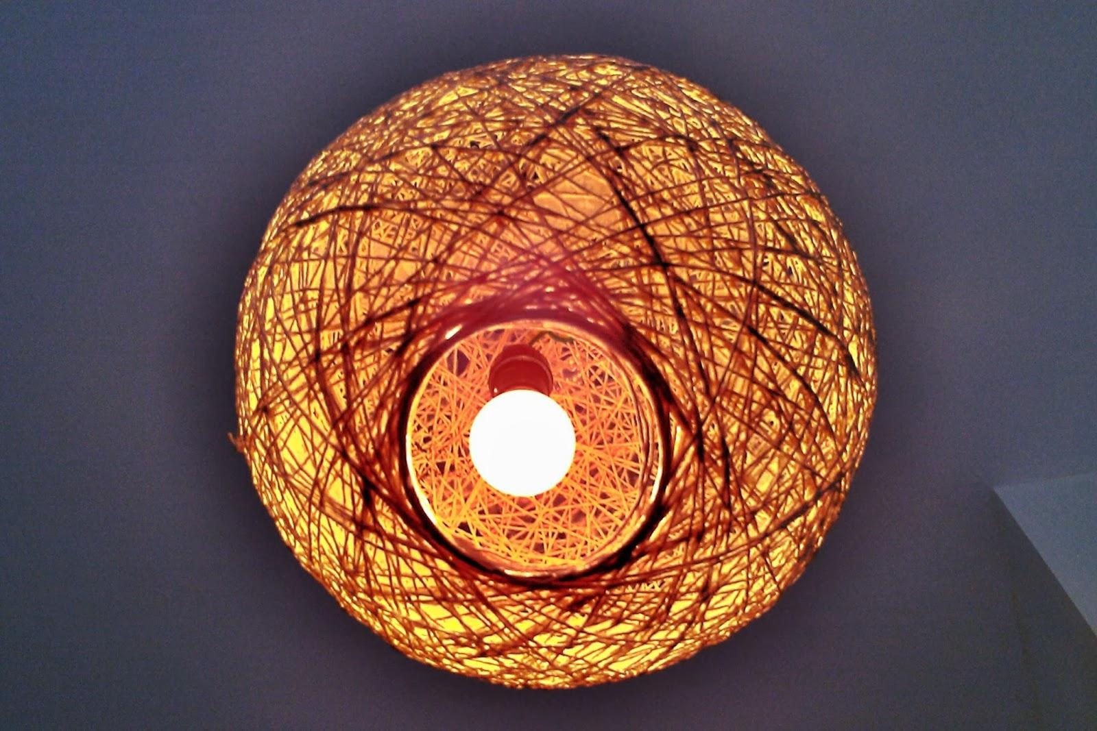 Лампа из нитки своими руками