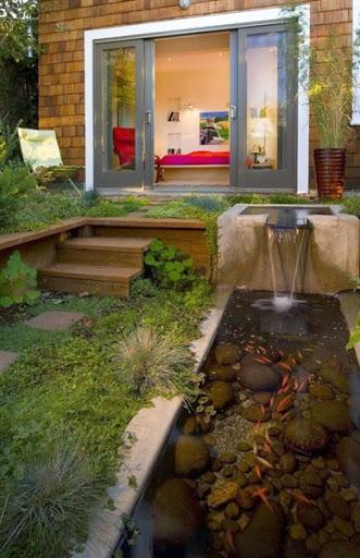 Model Desain Kolam Ikan Koi Hias Memanfaatkan Sisa Lahan Pekarangan Rumah