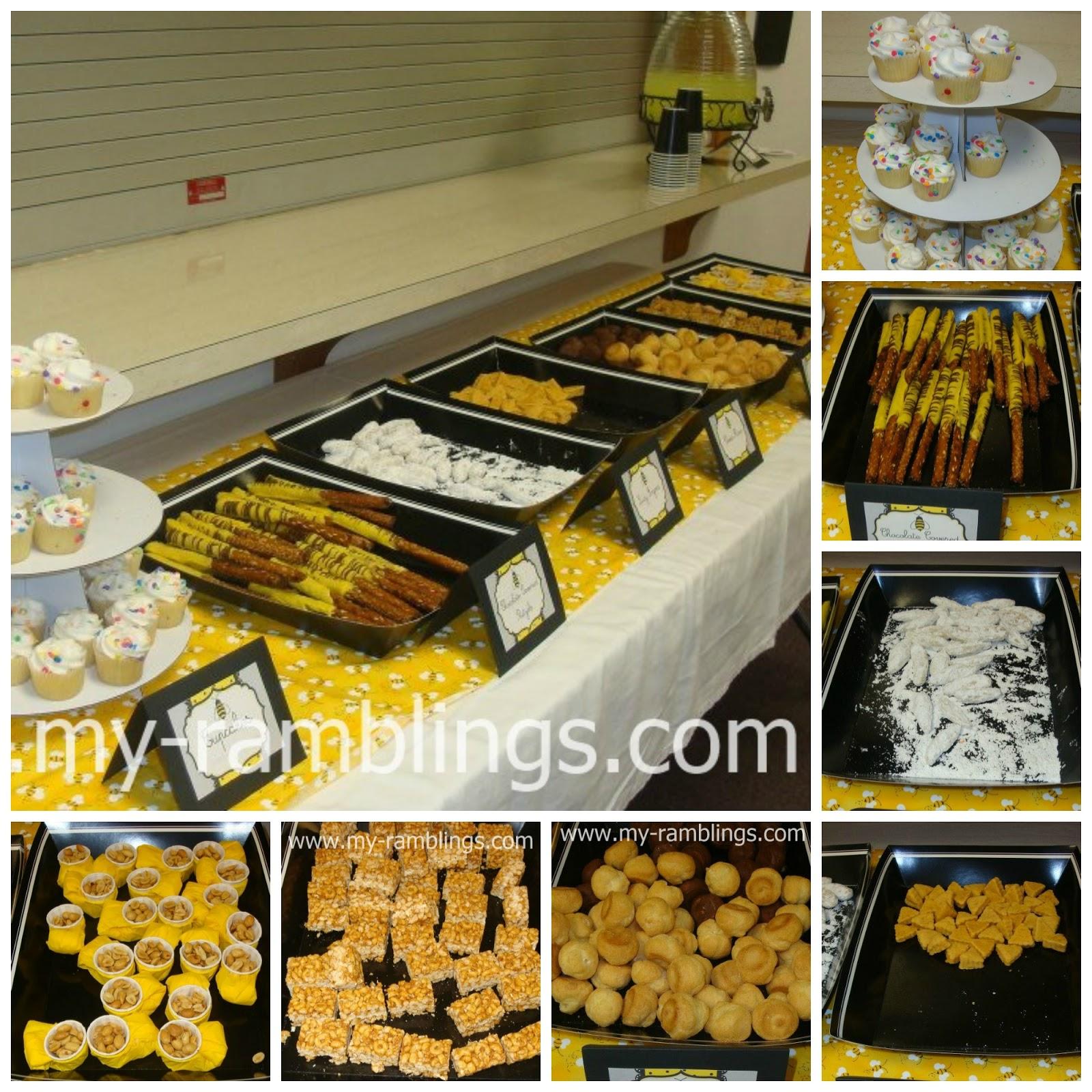 baby shower food menu the food menu cupcakes