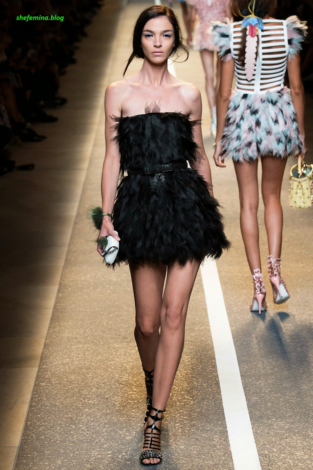 1d701ce418f Fendi Spring 2015 Ready-to-Wear Dresses Collation at Fashioh Show Runway