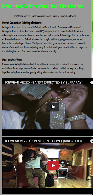 Check out article wrote on rapper Ice Wear Vezzo