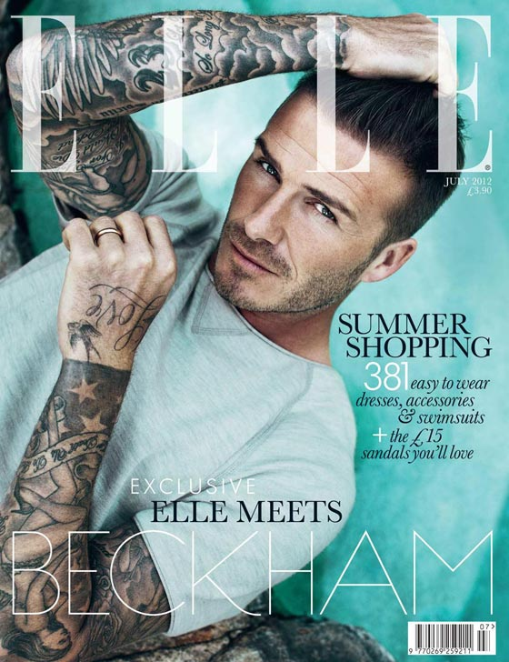 David Beckham Elle UK