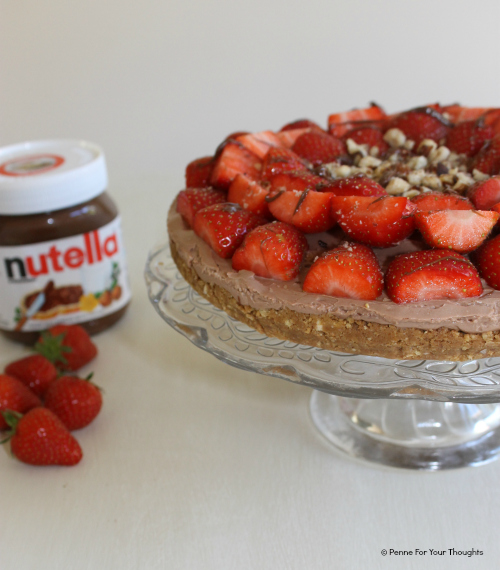 Nutella and Strawberry Cheesecake