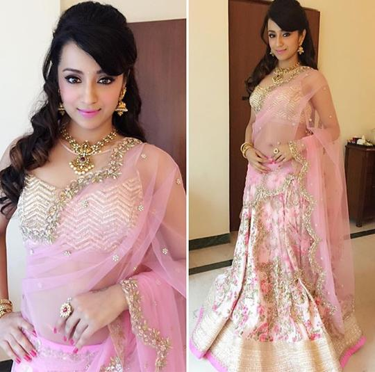 Trisha in Anushree Reddy Lehenga
