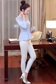 Three-Color Transparent Lace Shoulder Blouse