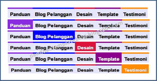 Cara Membuat Menu Horizontal Blog Tab Warna Berbeda