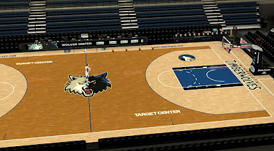 2K T-Wolves Target Center Court Mod