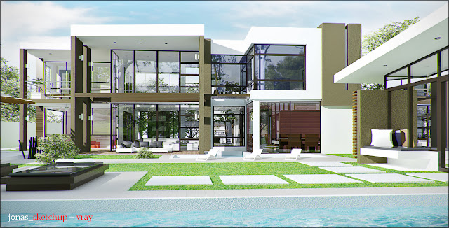 Exterior Rendering Vray For Sketchup Tutorial vray exterior