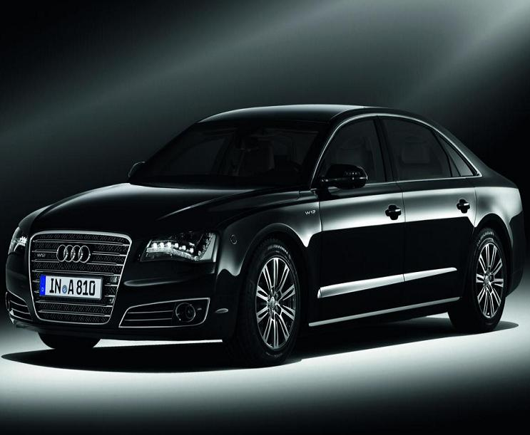 Audi A8 W12 Engine. The new Audi A8 L Security car