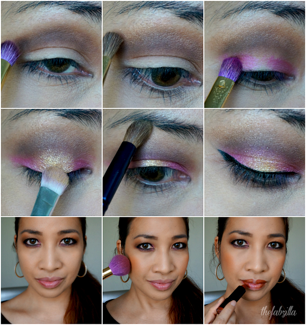 blackup cosmetics, get ready with me, how to, hot pink smokey eyes, ombre lips,dramatic makeup, review, swatch