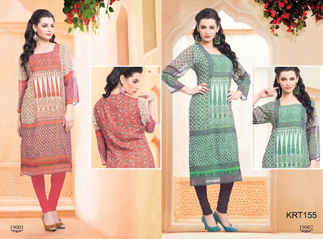 Latest Casual Georgette Printed Kurti