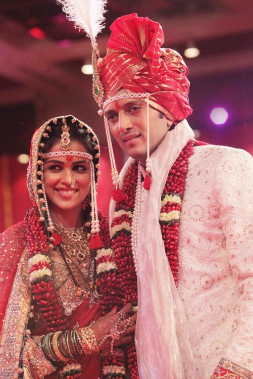 Ritesh deshmukh and genelia d souza wedding