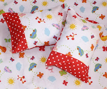 Butterfly polkadot pillows