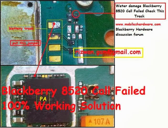 BLACKBERRY 8520 CALL FAILED SOLUTION