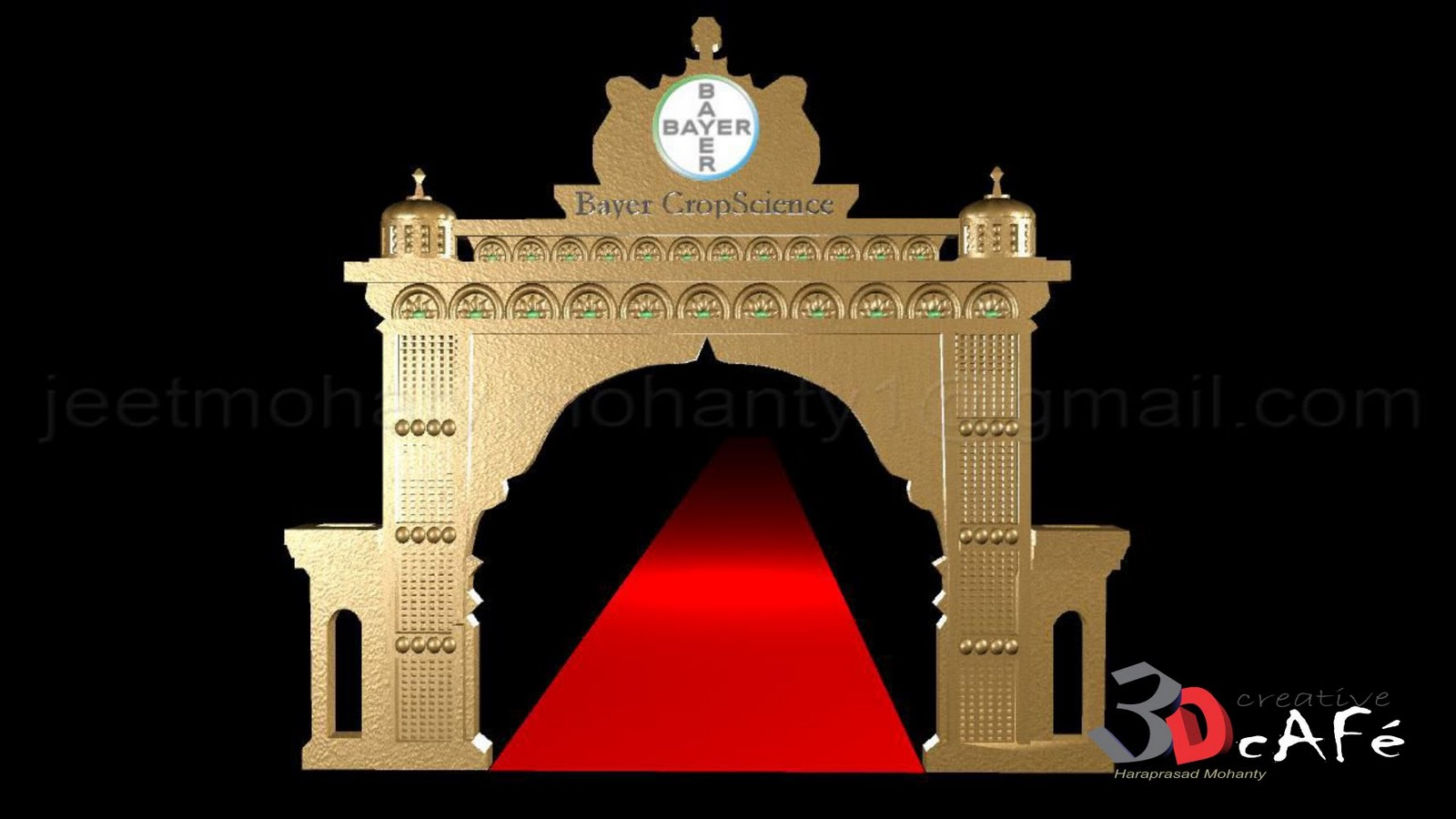 Haraprasad mohanty 3d artist entrance arch design Arch design indian home plans
