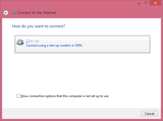 Cara Membuat Dial Up Di Windows 8