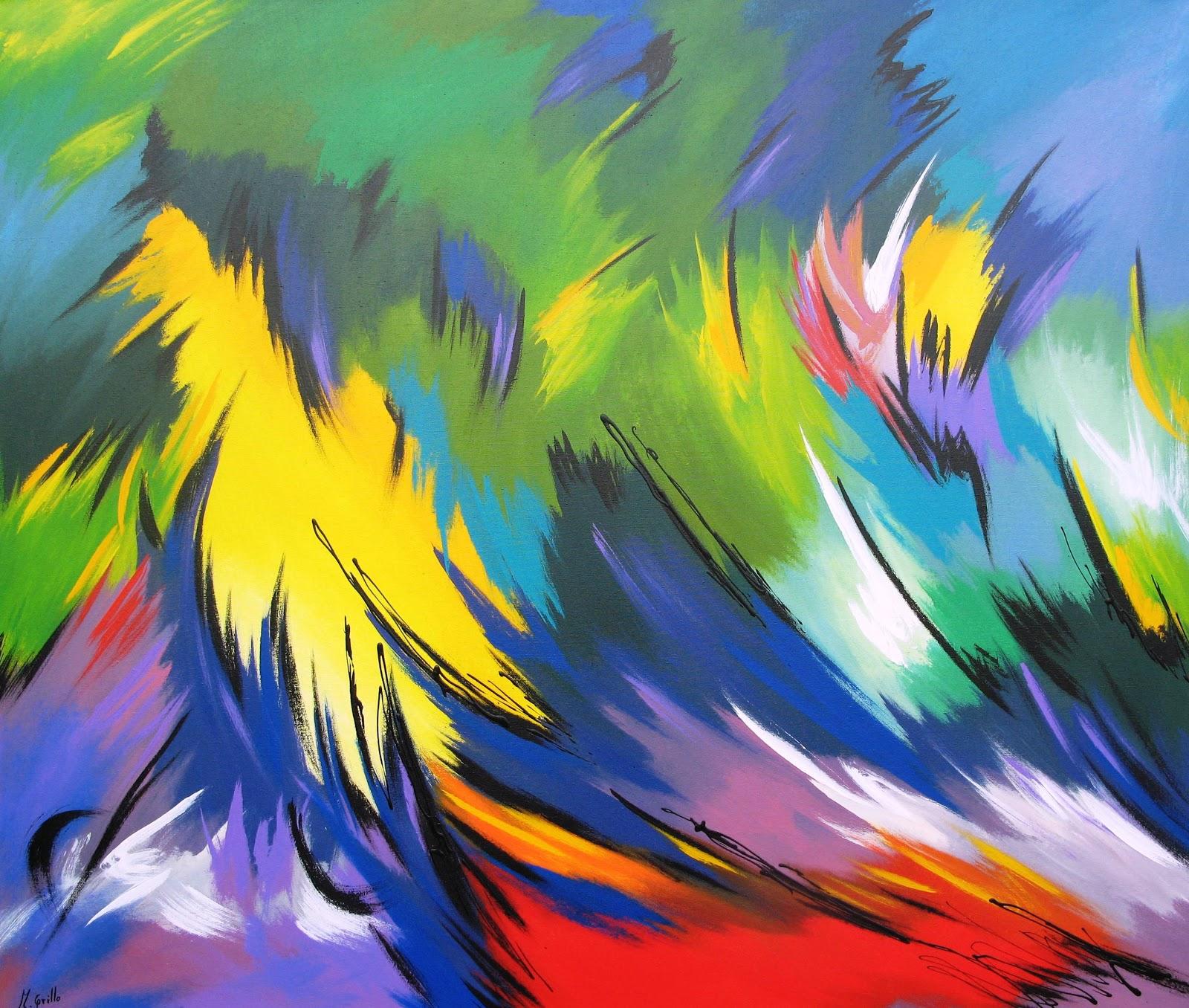Im genes arte pinturas pinturas abstractos modernos for Fotos de cuadros abstracto
