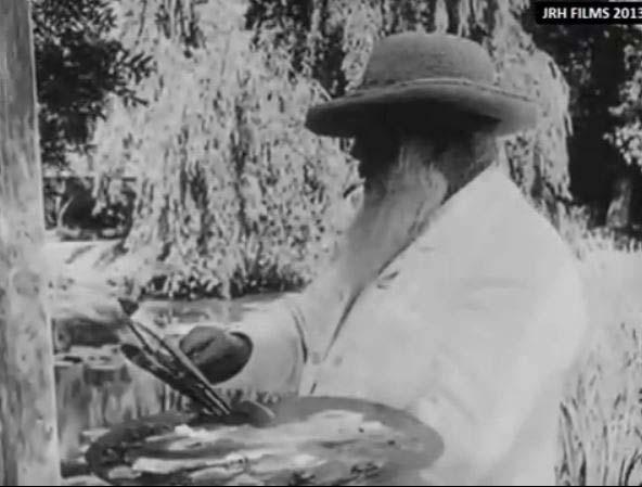 Metraje de hace 100 años muestra a los legendarios artistas Monet, Renoir, Rodin, y Degas trabajando y caminando cerca de sus estudios