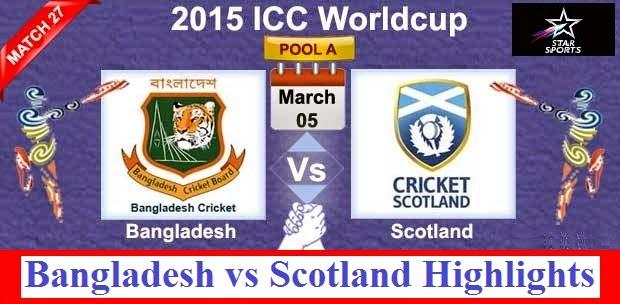 Bangladesh vs Scotland Highlights