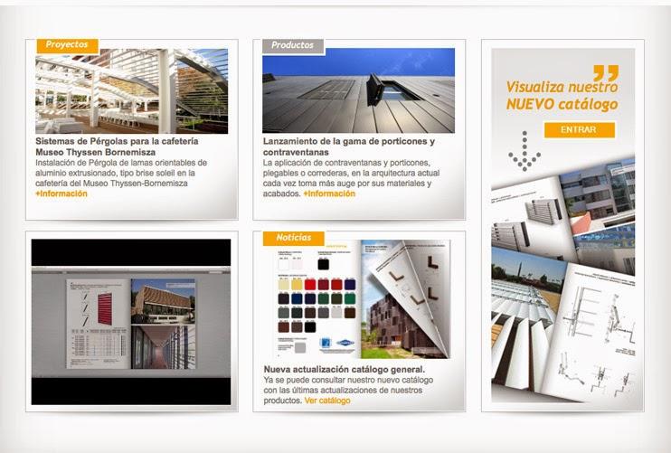 Diseño de páginas web en barcelona sector persianas, lamas aluminio, mallorquinas